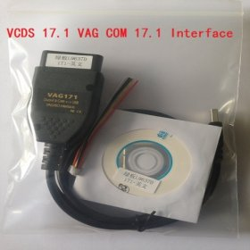 Free shipping Vcds 17.1.0 crack cable VAG COM VCDS 17.10 diagnose interface with VCDS 17.1.0 download software