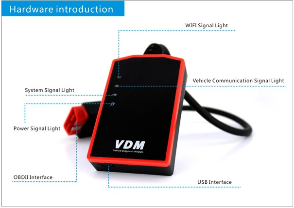 UCANDAS Wireless VDM Vehicle Diagnosis Module