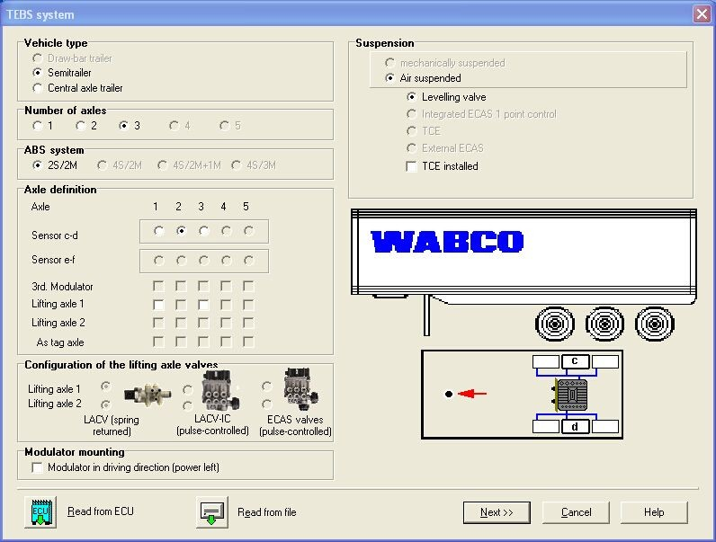 Wabco Diagnostic Kit software