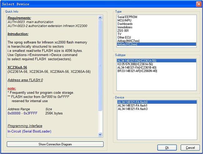 V5.50 X-PROG programmer software