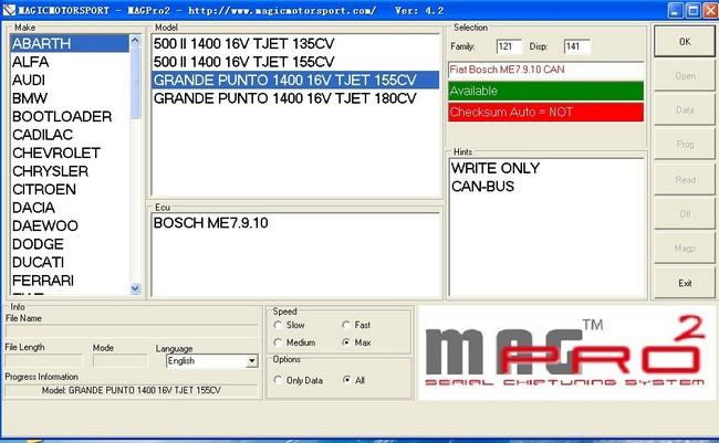 MAGPro2 V4 2 ECU Tuning Tool MAG Prog2 Serial Chip Tuning System