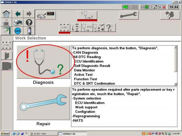 Nissan consult 3 diagnostic interface Nissan consult iii
