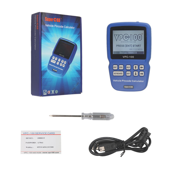 Supplier VPC-100 Pincode Calculator VPC 100 Pin Code Reader 500 tokens