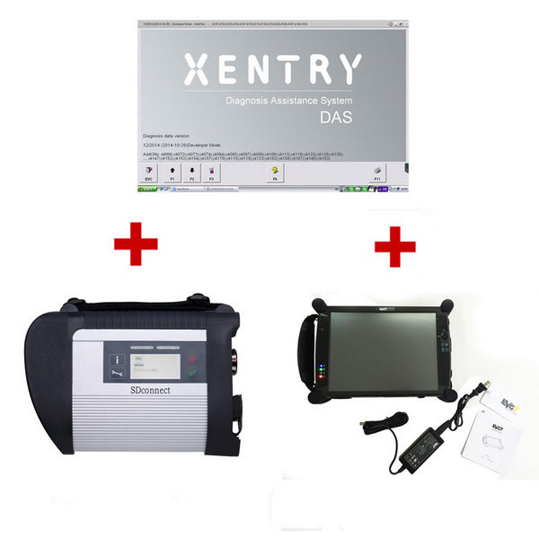 Supplier Mercedes sd C4 scanner Mercedes Mux C4 with xentry 2018.9 software with VDM and DTS installed on EVG7 Tablet PC