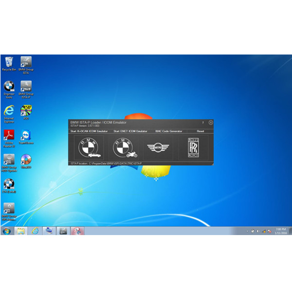 Supplier ICOM win7 software 2015.12 BMW ICOM Windows 7 HDD Expert Mode