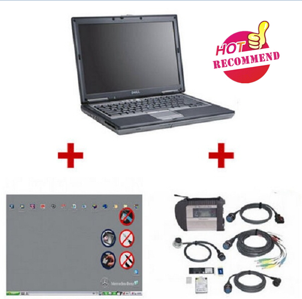 Supplier Mercedes c4 scanner with Mercedes sds laptop Dell D630 installed Mercedes star diagnosis software das xentry 2016.12