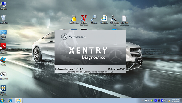 mercedes star win7 software