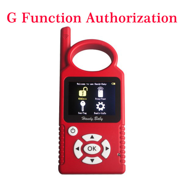 Supplier HANDY-BABY G Function Authorization for HANDY BABY key programme