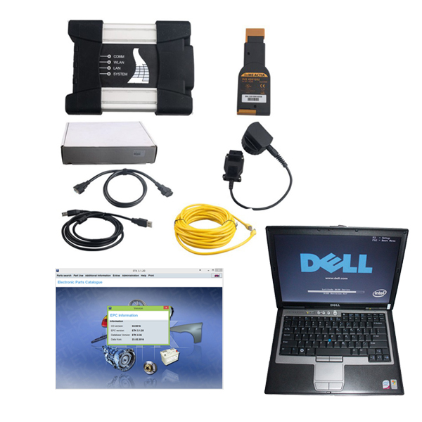 Supplier BMW ICOM Next A+B+C With Dell D630 Laptop installed 2018.5  win7 Icom diagnosis software HDD