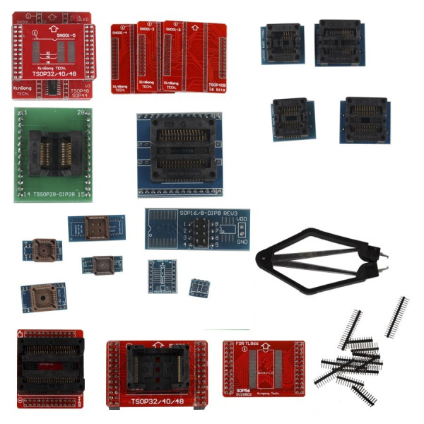 Supplier Full set adapters for Super MiniPro TL866A/TL866CS EEPROM Programmer Full Set 21pcs Socket Adapters
