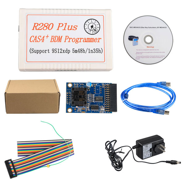R280 Plus CAS4+ BDM Programmer for BMW Motorola MC9S12XEP100 chip New R280 Plus BDM programmer for bmw cas4