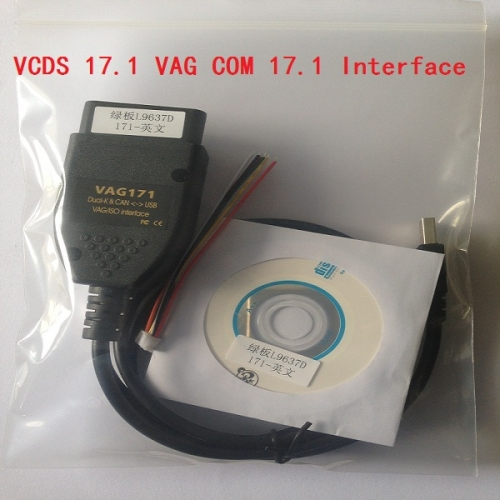 Supplier Free shipping Vcds 17.1.0 crack cable VAG COM VCDS 17.10 diagnose interface with VCDS 17.1.0 download software