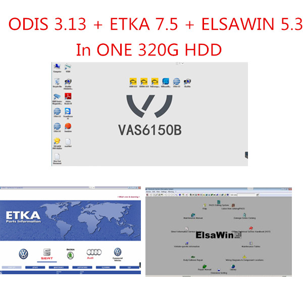 V3.1.3 ODIS download, Elsawin 5.3, VW Audi etka parts catalogue V7.5, vag odis engineering 6.7.5 5 in 1 software HDD