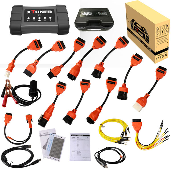 XTUNER T1 Heavy Duty Trucks diagnostic tool Wifi Xtuner T1 HD heavy-duty truck scanner