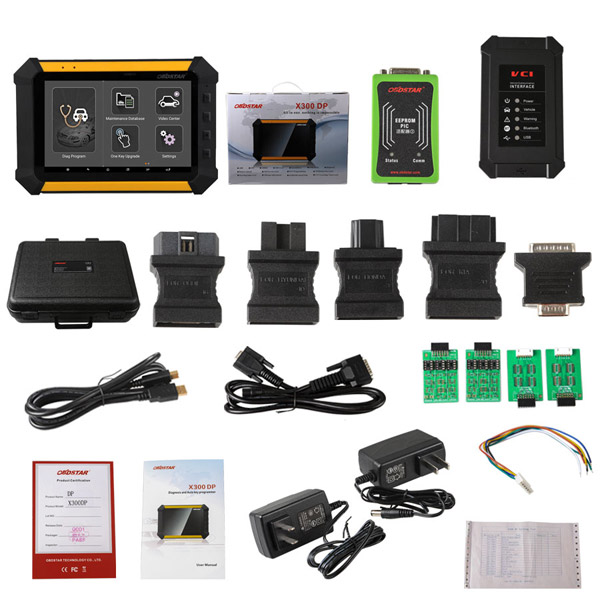 Supplier Original OBDSTAR X300 DP Android Tablet Key Programmer and Diagnostic Tool 2 in 1 Full Package Version