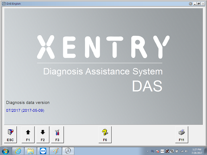 Supplier Mercedes Star diagnosis software Win 7 MB Star C4 SD Connect das XENTRY 2017.07