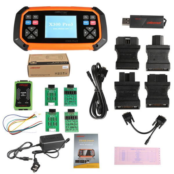 OBDSTAR X300 Pro 3 Car Key Programmer Full Package Configuration