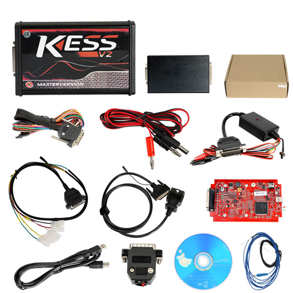 Supplier V2.23 Kess V2 Master FW V5.017 ECU Remapping Tools Online Version No Token Limited Red PCB
