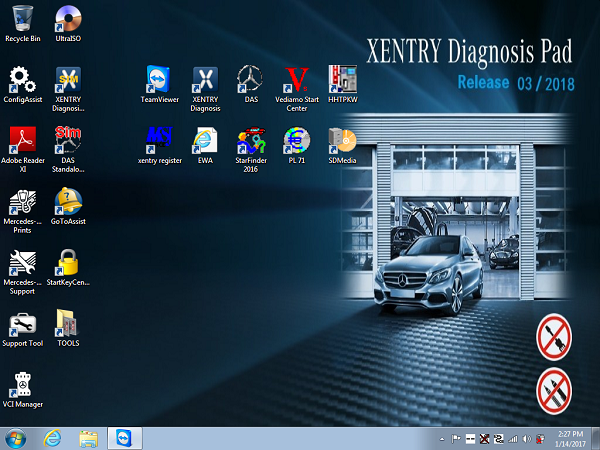 Supplier Mercedes Star diagnosis software Win 7 MB Star C4 SD Connect das XENTRY 2018.03