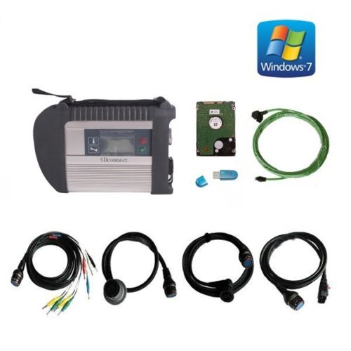 Supplier Best Quality Wireless Mercedes Benz Star C4 Mercedes star diagnosis Compact 4 with Mercedes benz xentry 2019.03 win7 HDD software