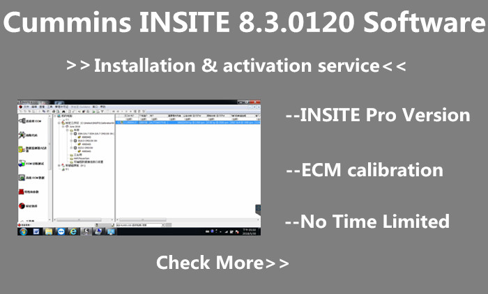 Supplier Cummins INSITE 8.3.0120 Software 8.3.0120 Pro Version No Time Limited,Cummins INSITE 8.3.0120 Pro work for Cummins Engine Vehicle Diagnostic & Programming
