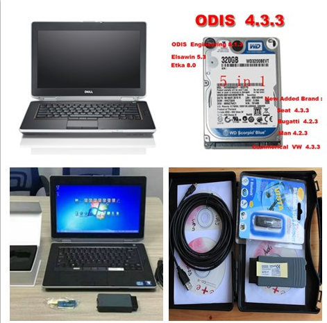 Supplier Vas 5054a with OKI Chips with  ODIS V4.4.1 HDD Sotware vw audi skoda installed on Dell E6420 Laptop ready to use