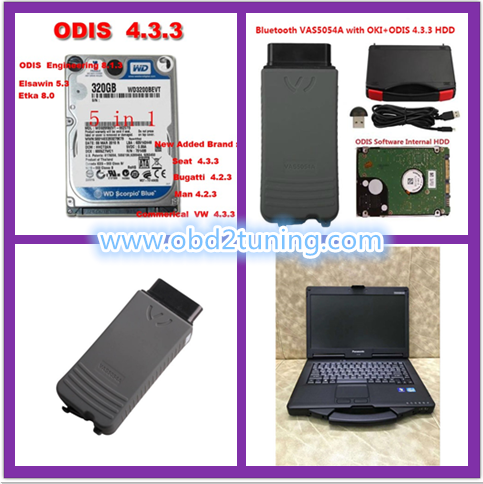 Supplier Vas 5054a with OKI chips with VW AUDI SKODA ODIS V4.33 software installed on  CF53 laptop  ready to use