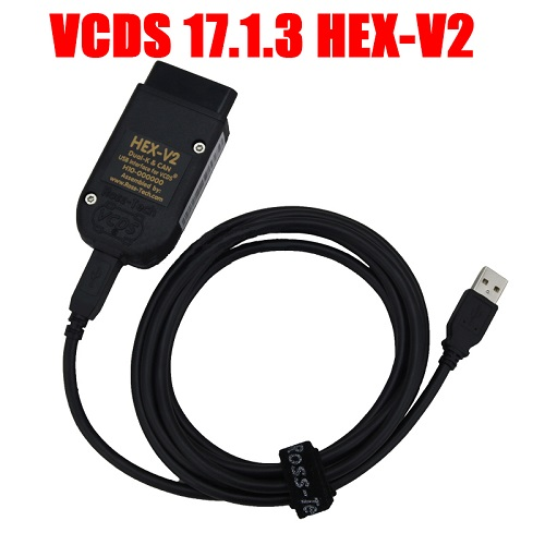 Supplier Newest HEX-V2 VAG COM 17.1.3 diagnostic cable VAGCOM VCDS 17.1.3 hex v2 usb interface For VW Audi Seat Skoda