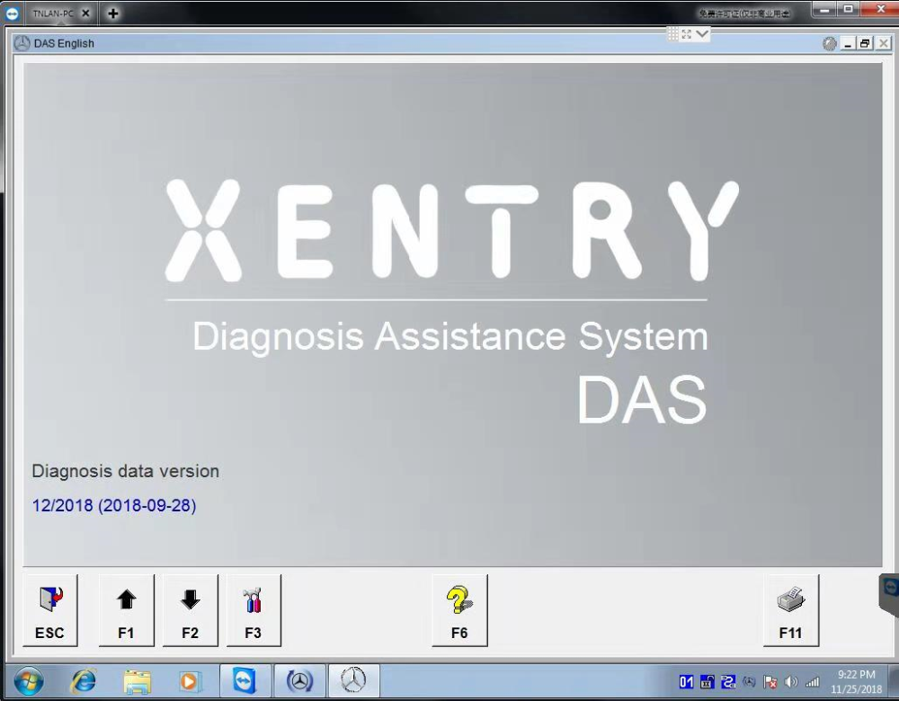 Supplier 2018.12 Xentry Mercedes Software HDD/SSD 2018.12V SD C4 Xentry Das Software WIN7 32bit Installed