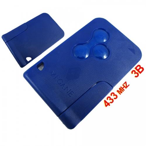 Blue Renault Megane Smart key Renault Megane remote key 433MHZ