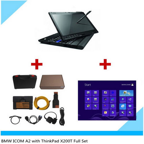 Supplier Icom a2+b+c clone with 2015.8 icom win8 software Lenovo x200T