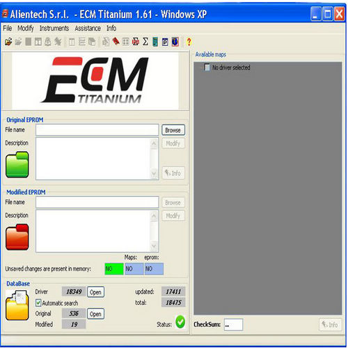 Supplier ECM TITANIUM 1.61 crack ECM TITANIUM V1.61 with 18475 Driver