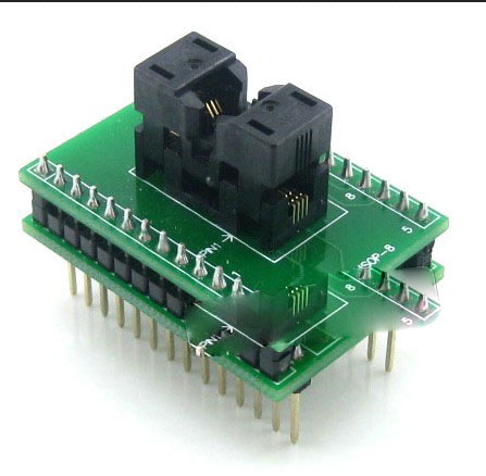 Supplier SSOP8 ic chip socket SSOP8 to DIP8 programming socket adapter