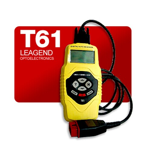 Supplier T61 Multilanguage CAN OBDII Scanner T61 OBD2 Code Reader