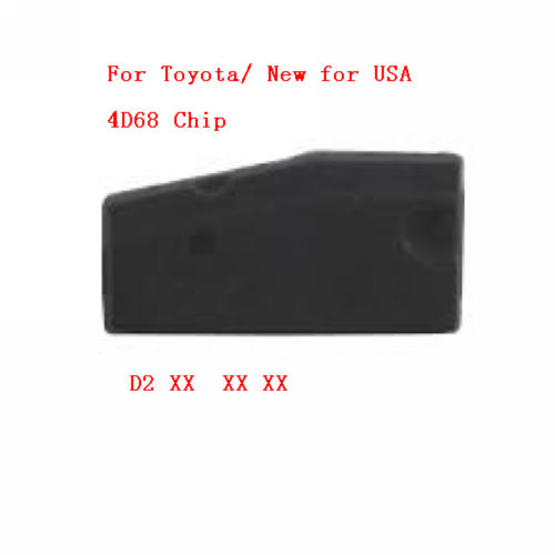 Supplier 4D 68 chip carbon Pg1 D2 For Toyota ID4D68 transponder chip