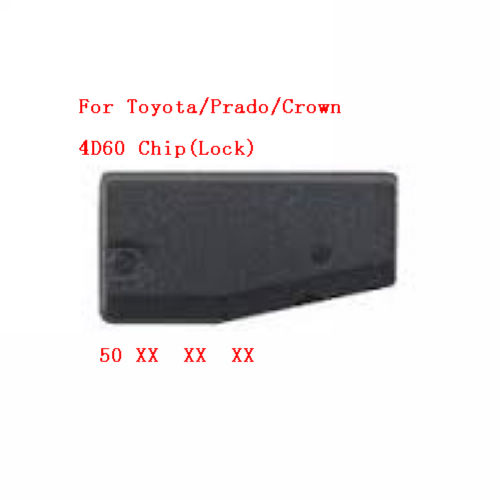 Supplier For Toyota Lock ID4D60 Carbon chip Pg1:50 4D 60 transponder chip