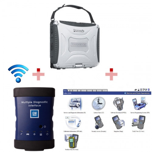 Supplier Wifi GM MDI with Laptop Panasonic CF 19 installed GM MDI softwar