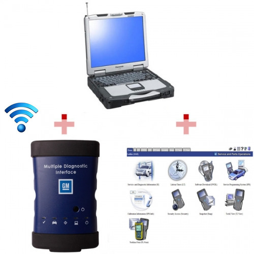Supplier Wireless GM MDI scanner Wifi GM MDI China clone Panasonic CF 30