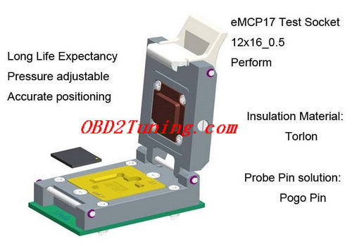 Supplier NAND Flash Testing_eMCP Test Socket_12 X 16_0.5mm * Perform