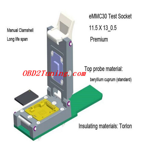Supplier eMMC30 Test Socket_11.5 X 13_0.5 Premium_NAND Flash Test socket