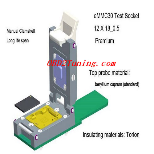 Supplier eMMC30 Test Socket_12 X 18_0.5 * Premium_NAND Flash Testing