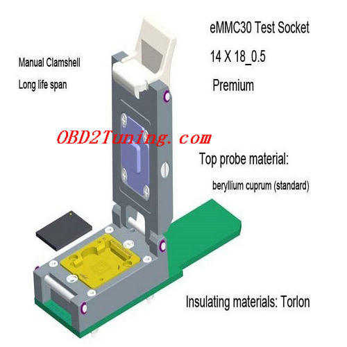 Supplier eMMC30 Test Socket_14 X 18_0.5 * Premium_NAND Flash Testing