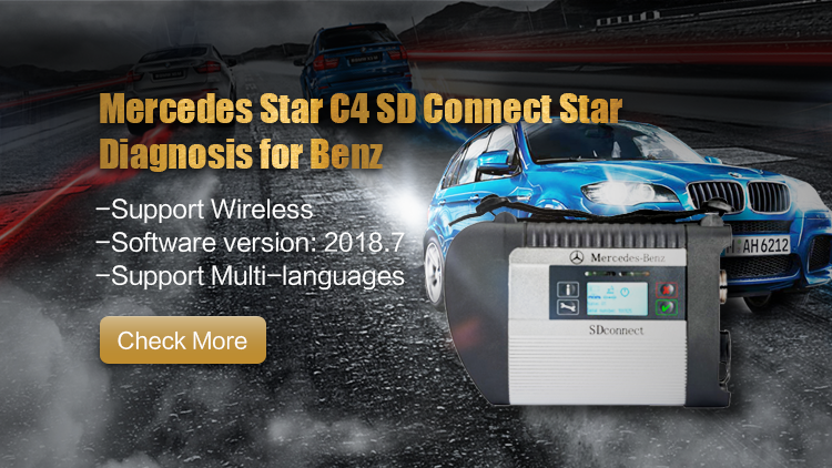 2018 Best quality MB SD Connect C4 Mercedes Benz Star Diagnosis Compact 4 with Wireless function