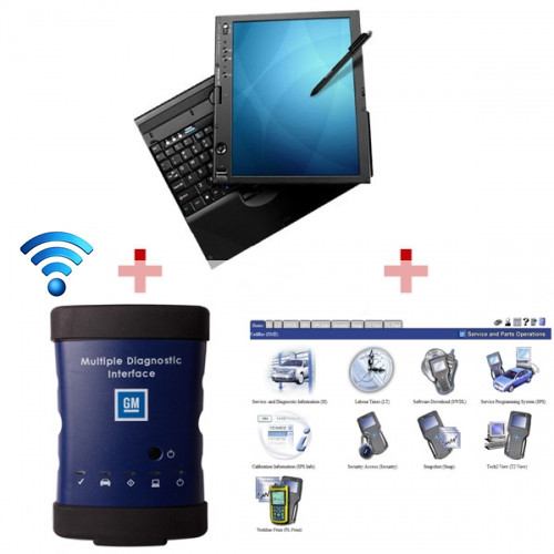Supplier GM MDI scanner Wifi Version GM MDI software Installed IBM X61T