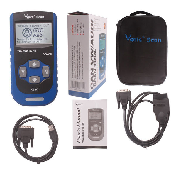 Supplier Vgate vs450 vag can obdii scan tool V2.7 Vgate scan vs450 VW vag