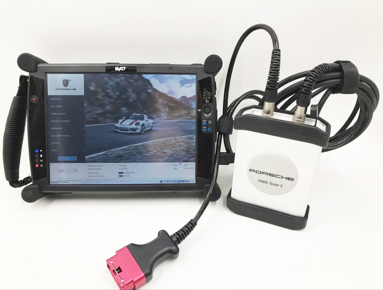 Supplier Piwis ii tester For Porsche piwis tester 2 with V18.10 Piwis Tester software installed on EVG7 Tablet pc ready to use