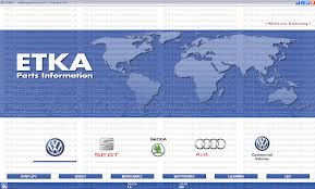 Supplier VAG ETKA 8.1 ETKA Electronic Catalogue ETKA Parts Information