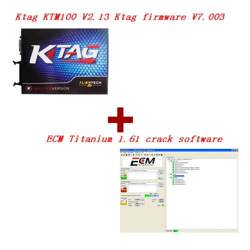Supplier Ktag KTM100 V2.13 Ktag firmware V7.003+ ECM Titanium 1.61 crack