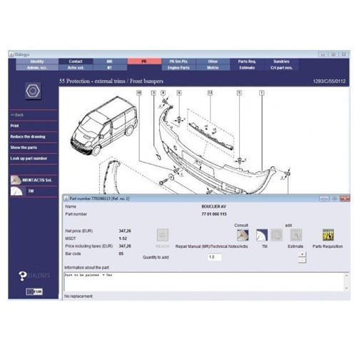 Supplier For renault dialogys parts catalogue For Renault dialogys parts catalogue V4.56