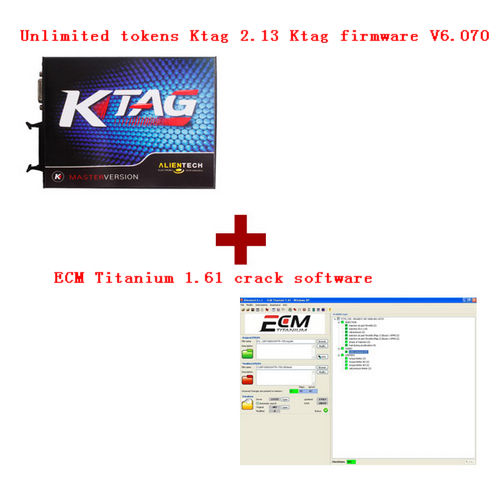 Supplier Unlimited tokens Ktag 2.13 firmware V6.070 + ECM Titanium 1.61